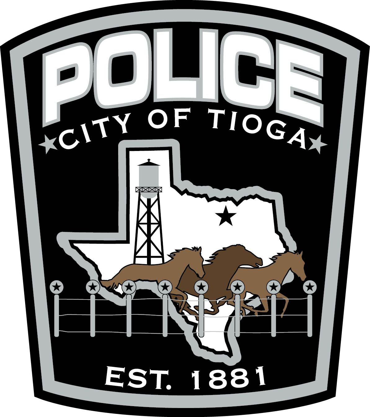 C-81918 Tioga Police Department Shoulder Patch Texas